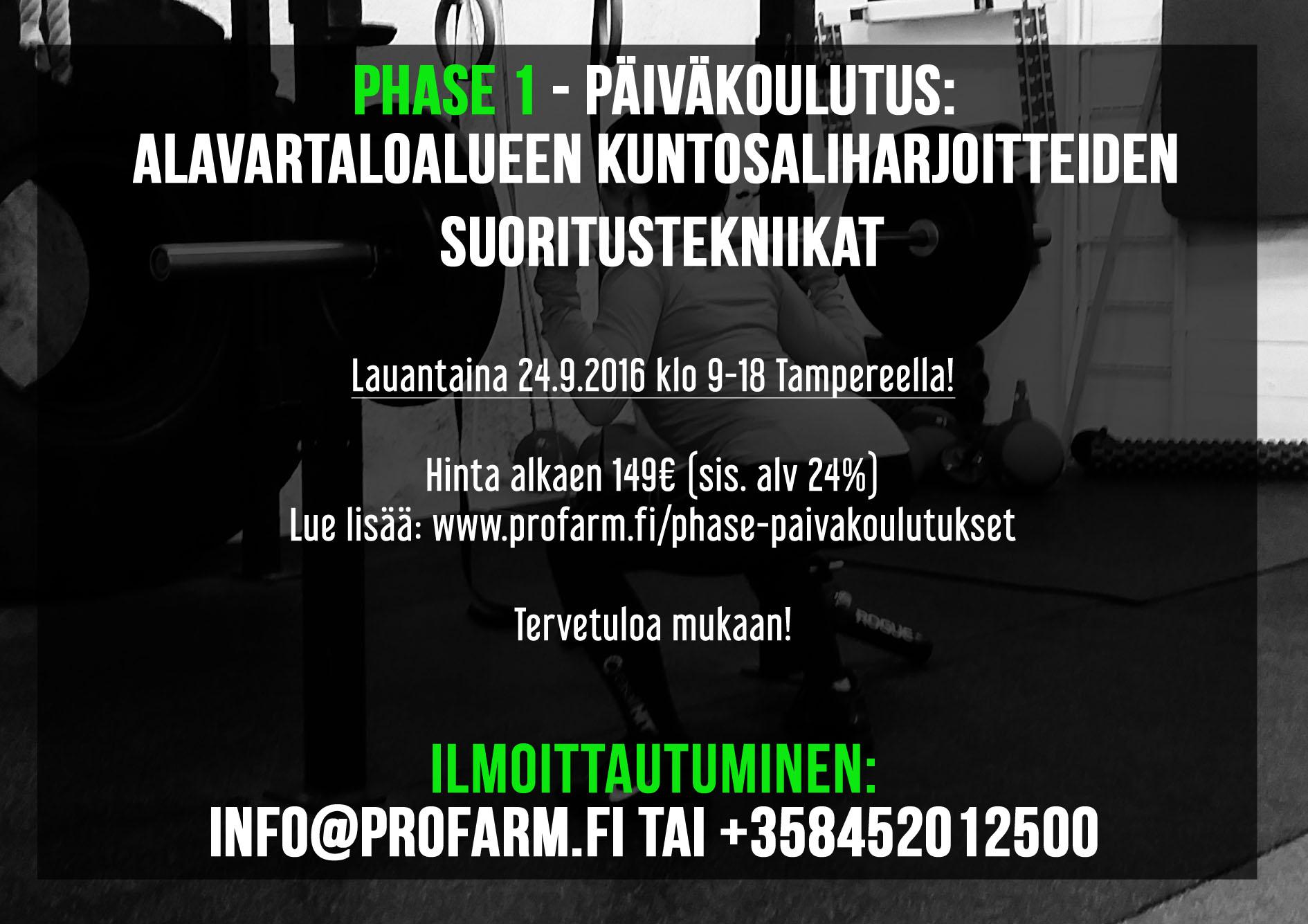 Kuntosaliharjoitteiden koulutus Tampereella (sisältää mm. jalkakyykyn suoritustekniikan)