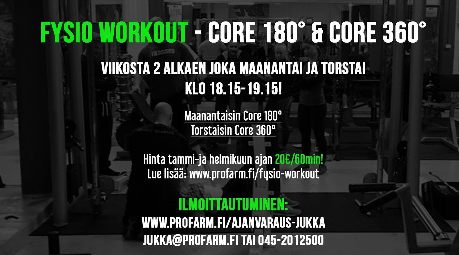 Ryhmäliikuntatila Tampereen Kehräsaaressa (Fysio Workout)